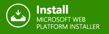 Download and install with web platform installer